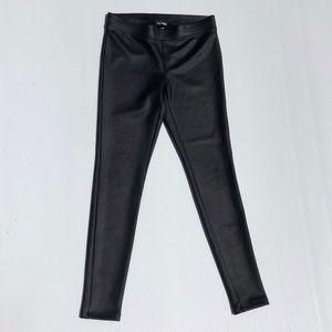 Express Shiny Pants Leggings Women's Small Black